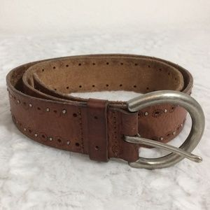 Fossil Genuine Leather Belt with Decorative Studs